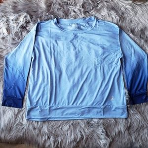 NWT Daisy Fuentes Ombre blue top sz 3x